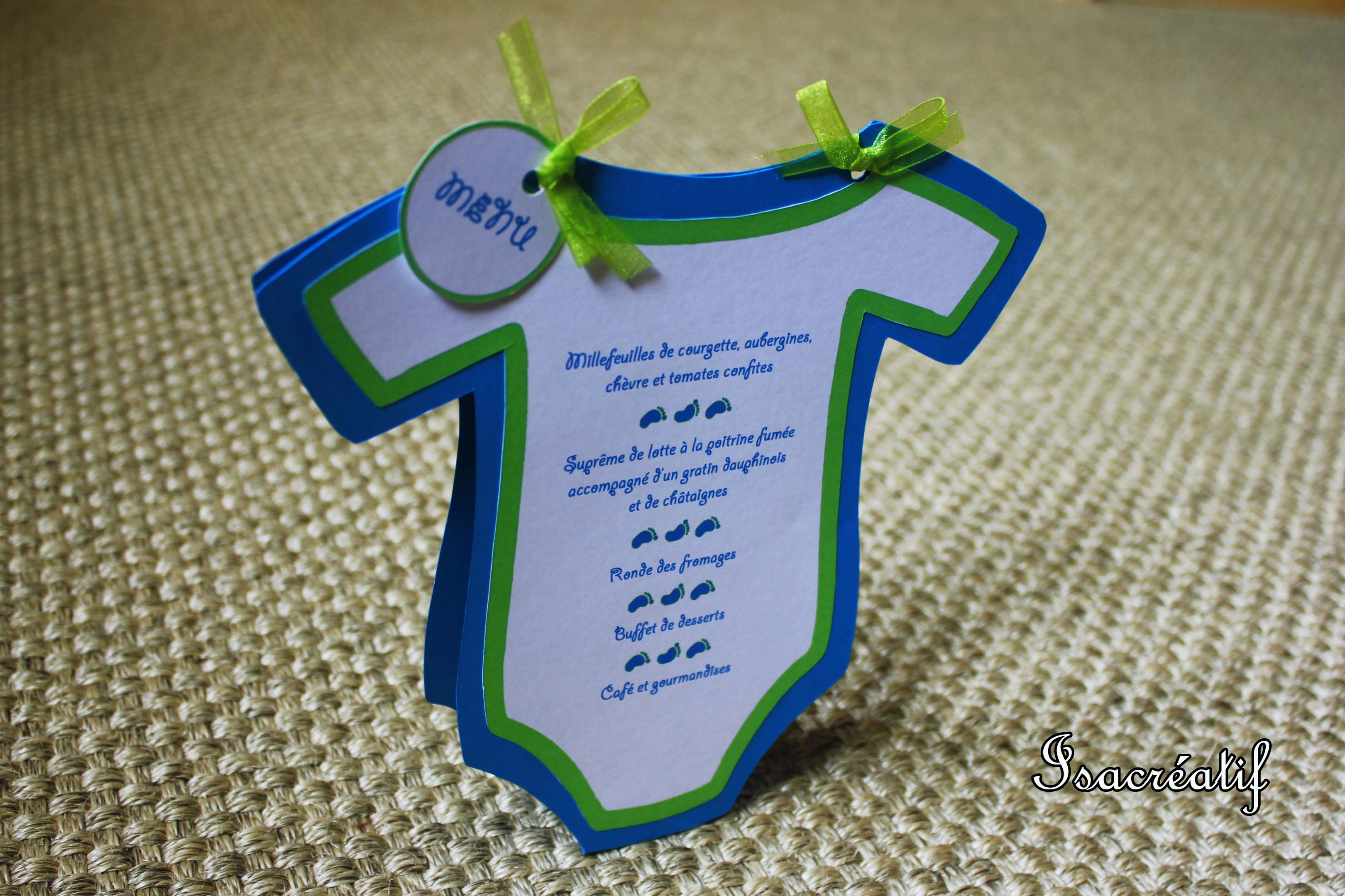 Menu bapt me body isacr atif - Pliage serviette ourson ...